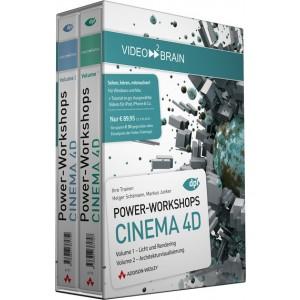 video2brain Power-Workshops CINEMA 4D Vol. 1+2 auf DVD (Box)
