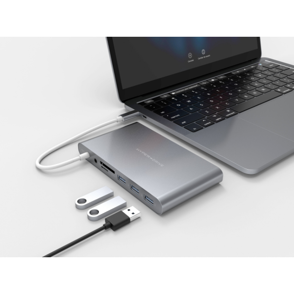 HyperDrive Ultimate 11-in-1 Gray Desk