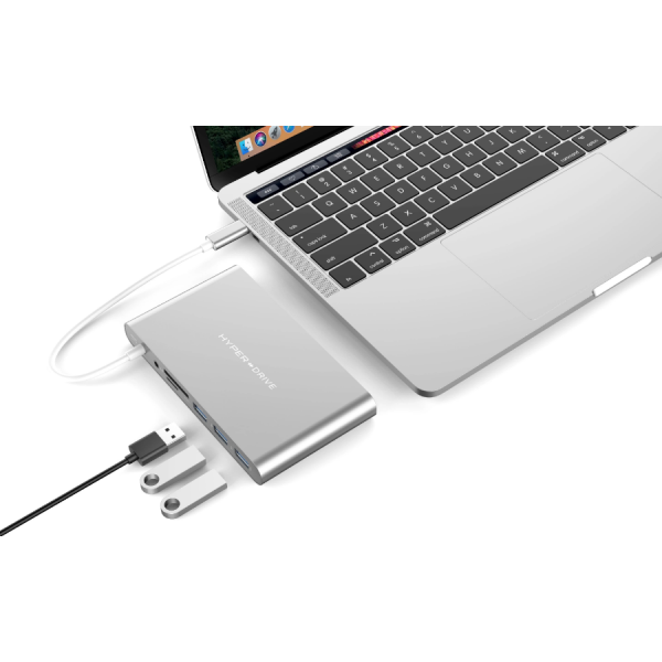 HyperDrive Ultimate 11-in-1 Silver Desk