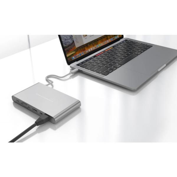 HyperDrive Ultimate 11-in-1 Silver Desk 2