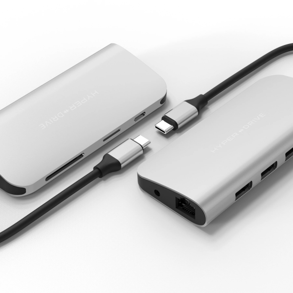HyperDrive ULTIMATE 9-in-1 USB-C Hub silber