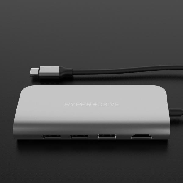 HyperDrive ULTIMATE 9-in-1 USB-C Hub silber 2